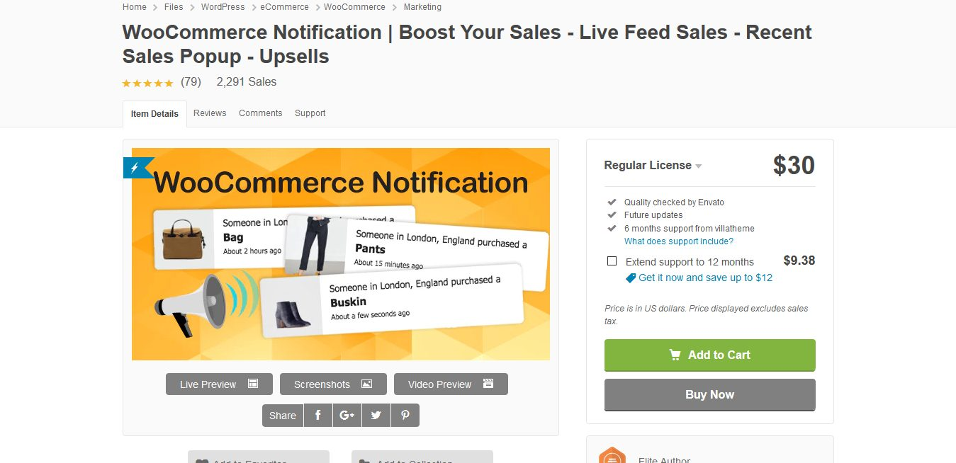 WooCommerce Notification 1.4.2.2 | Boost Your Sales – Live Feed Sales – Recent Sales Popup – Upsells