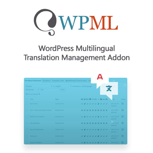 WPML WordPress Multilingual Translation Management Addon 2.10.6