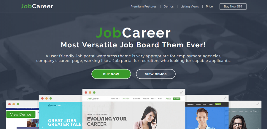 JobCareer 3.8 – Job Board Responsive WordPress Theme