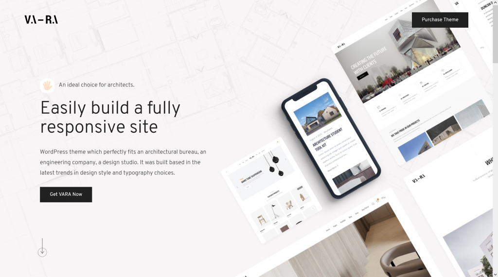 Nulled Vara - Architecture WordPress Theme Preview - ThemeForest